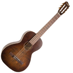 Art & Lutherie 046591 Bourbon Burst Roadhouse Parlor Nylon RH 6 String Acoustic Guitar with Bag