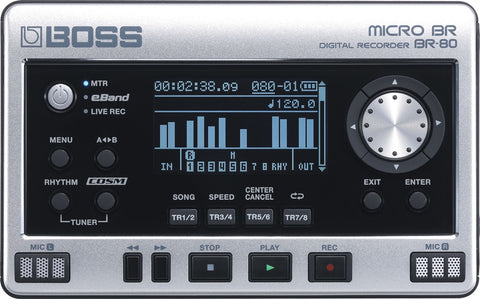 Boss BR-80 Digital Recorder - L.A. Music - Canada's Favourite Music Store!