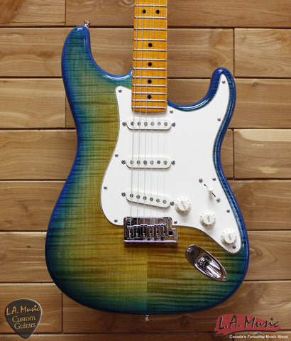 Fender Custom Shop American Custom Stratocaster Maple Neck Green Fade to Yellow With Poblano Pickups 9231006870 - L.A. Music - Canada's Favourite Music Store!