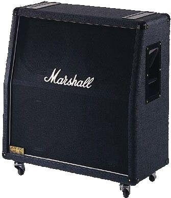 Marshall 100 Watt 4 X 12 Angled Cabinet With Greenbacks  Special Order  1960AC