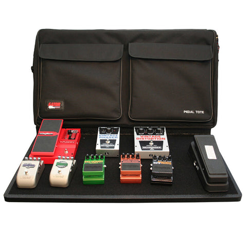 "Gator 30"" X 16"" Wood Pedal Board With Black Nylon Carry Bag; Includes G-Bus-8 Power Supply With (8) 9V & (3) 18V Outputs & Cables GPT-PRO-PWR - L.A. Music - Canada's Favourite Music Store!"