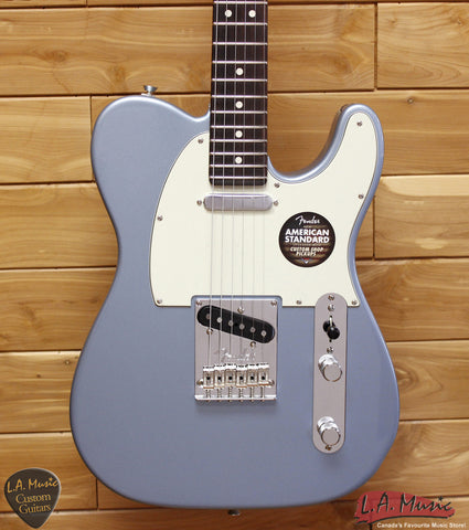 Fender Limited Edition American Standard Telecaster, Rosewood Fingerboard, Painted Headcap, Ice Blue Metallic 0170801783