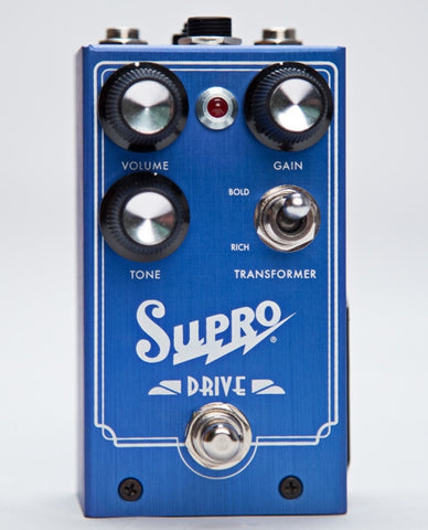 Supro Drive Effect Pedal Overdrive With Transformer & Gain Expression 1305
