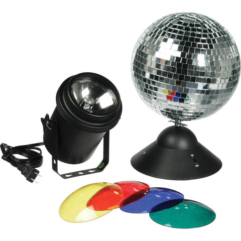 American DJ MB8COMBO 8 Inch Mirrorball Package w/Pinspot/DC Motor & Lens