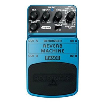 Behringer RV600 REVERB MACHINE Ultimate Reverb Modeling Effects Pedal - L.A. Music - Canada's Favourite Music Store!