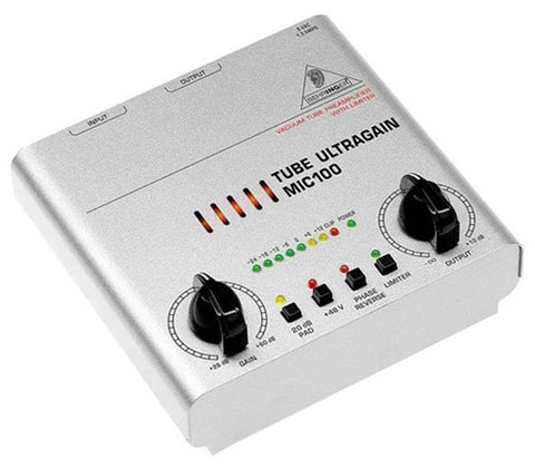 Behringer Microphone100 Vacuum Tube Preamplifier  With Limiter - L.A. Music - Canada's Favourite Music Store!
