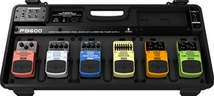 Behringer PB600 Effects Pedal Floor Board  With 9 V DC and P.A.tch Cables - L.A. Music - Canada's Favourite Music Store!
