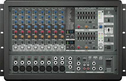 Behringer PMP1680S 1600-Watt 10-Channel Powered Mixer  With Dual Multi-FX Processor and FBQ Feedback Detection System - L.A. Music - Canada's Favourite Music Store!