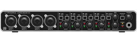 Behringer UMC404HD U-PHORIA Audiophile 4x4, 24-Bit 192 kHz USB Audio MIDI Interface with MIDAS Mic Preamplifiers - L.A. Music - Canada's Favourite Music Store!