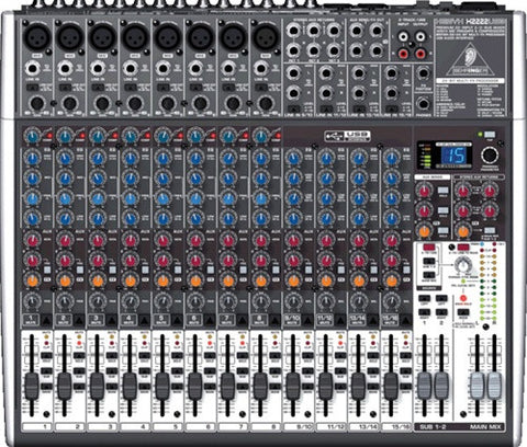 Behringer X2222USB - 22 Input 2 2 Bus Mixer  With EFX and USB