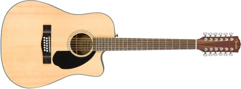 Fender CD-60SCE-12 12 STRING ELECTRIC ACOUSTIC NATURAL 961707021