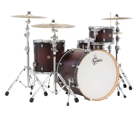 Gretsch Drums Catalina Maple 4-Piece Drum Shell Bundle - Satin Deep Cherry Burst CM1-E824S-SDCB