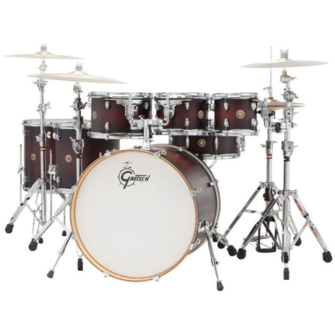 Gretsch Drums Catalina Maple (Satin Deep Cherry Burst) 7PC Rock Shell Pack CM1-E826P-SDCB
