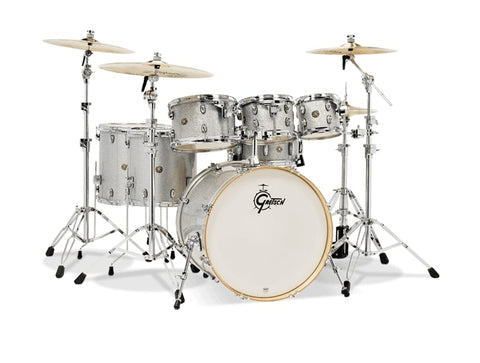 Gretsch Drums Gretsch Drums Catalina Maple 7-Piece Drum Shell Pack, Silver Sparkle CM1-E826P-SS