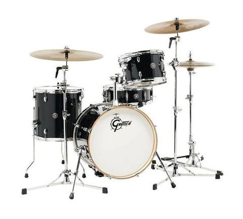 Gretsch Drums Catalina Club 4 Piece Drum Shell Pack Piano Black CT1-J404-PB