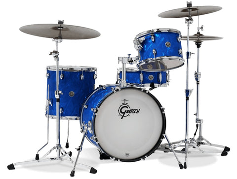 "Gretsch Drums Catalina Club Jazz 4pc Shell Pack With 18"" Bass Drum Blue Satin Flame CT1-J484-BSF"