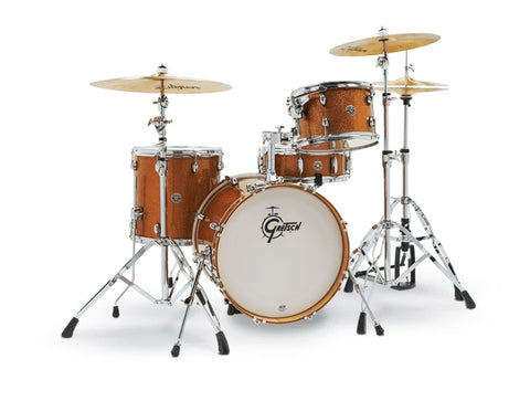 "Gretsch Drums Catalina Club 4 Piece Shell Pack w/ 18"" Bass Drum - Bronze Sparkle CT1-J484-BS"