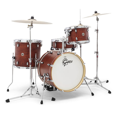 Gretsch Drums Catalina Club 4 Piece Drum Shell Pack Satin Walnut Glaze CT1-J484-SWG