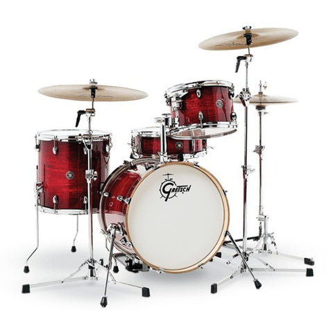 Gretsch Drums Catalina Club 4 Piece Drum Shell Pack Gloss Crimson Burst CT1-J404-GCB