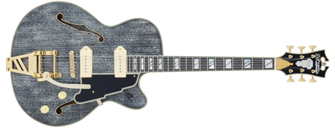 D'Angelico Excel 59 Hollowbody Electric Guitar With Shield Tremolo Black Dog DAE59BDGTR
