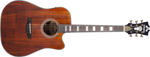 D'Angelico Excel Bowery Koa Acoustic / Electric Guitar Natural Koa DAED500KNATAP