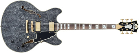 D'Angelico Excel DC Semi-hollowbody Electric Guitar With Stopbar Tailpiece Black Dog DAEDCBDGS