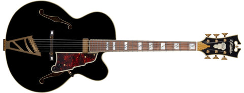 D'Angelico EXL-1 Hollowbody Electric Guitar, Black DAEEXL1SBKGTE