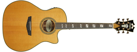 D'Angelico Excel Gramercy Acoustic / Electric Guitar, Vintage Natural DAEG200VNATGP