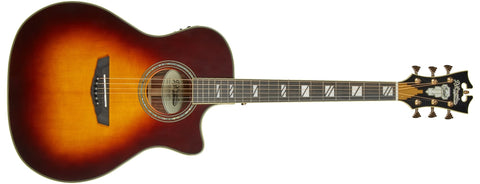 D'Angelico Excel Gramercy Acoustic / Electric Guitar Vintage Sunburst DAEG200VSB2GP