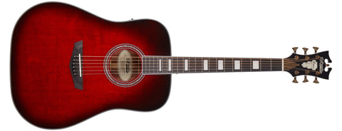D'Angelico Premier Lexington Acoustic / Electric Guitar, Trans Black Cherry Burst DAPD300TBCBAPS