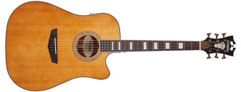 D'Angelico Premier Bowery Acoustic / Electric Guitar Vintage Natural DAPD500VNATAPS