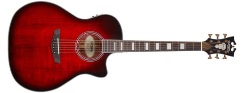 D'Angelico Premier Gramercy Acoustic / Electric Guitar, Trans Black Cherry Burst DAPG200TBCBAPS