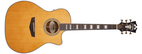 D'Angelico Premier Gramercy Acoustic / Electric Guitar, Vintage Natural DAPG200VNATAPS