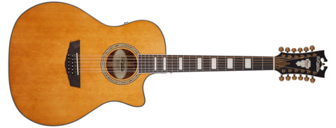 D'Angelico Premier Fulton Grand Auditorium 12 STRING Acoustic / Electric Guitar, Vintage Natural DAPG212VNATAPS