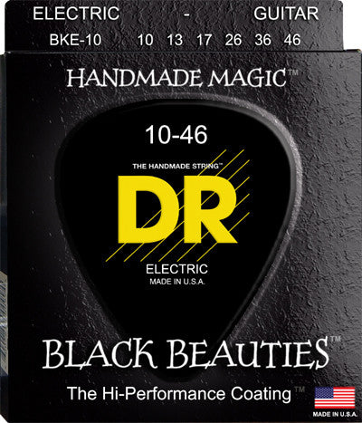 DR Electric Guitar Strings BKE-10 Black Beauties 10-46