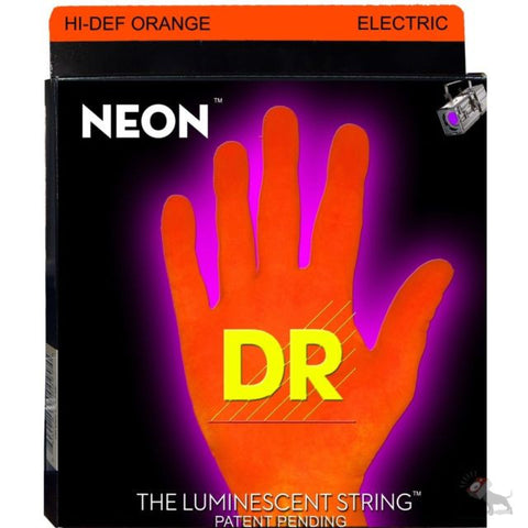 DR USA HI-DEF NEON ORANGE STRINGS 10-46 - L.A. Music - Canada's Favourite Music Store!