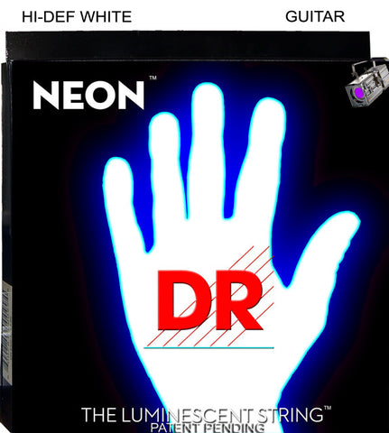 DR USA HI-DEF NEON WHITE STRINGS 10-46 - L.A. Music - Canada's Favourite Music Store!