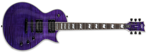 ESP LTD EC-1000FM SEE THRU PURPLE ELECTRIC GUITAR