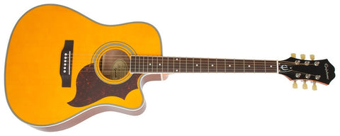 Epiphone 2014 FT-350SCE Min-Etune Acoustic Electric Antique Natural EE35SCERANNH
