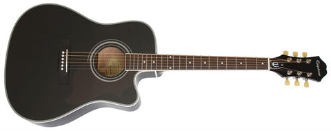 Epiphone 2014 FT-350SCE Min-Etune Acoustic/Electric Ebony EE35SCEREBNH