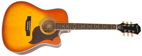 Epiphone 2014 FT-350SCE Min-Etune Acoustic Electric Violinburst EE35SCERVBNH