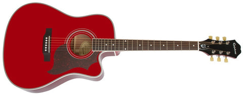 Epiphone 2014 FT-350SCE Min-Etune Acoustic/Electric Wine Red EE35SCERWRNH