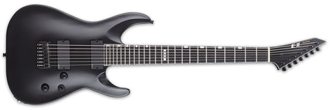ESP E-II HORIZON HIPSHOT BLACK SATIN BARITONE ELECTRIC GUITAR EIIHORNT7BHSSW
