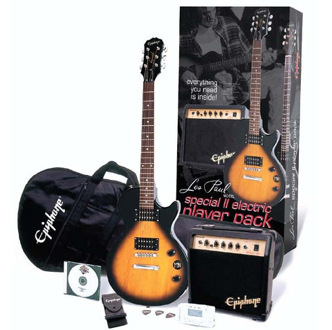 Epiphone Les Paul Special II Player Pack - Vintage Sunburst ELPJVSCHPP - L.A. Music - Canada's Favourite Music Store!