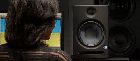 1 Presonus 8 inch Powered Studio Monitor with Kevlar Woofer, 1.25 inch Silk-dome Tweeter, and 140W Class AB Bi-amplific ERIS-E8