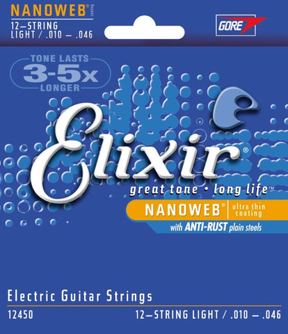 Elixir Electric Guitar 12 String NanoWeb Light 12450 - L.A. Music - Canada's Favourite Music Store!