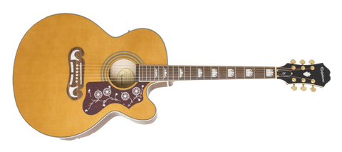 Epiphone 2018 EJ-200SCE Acoustic Electric Vintage Natural EJ200CEVNGH