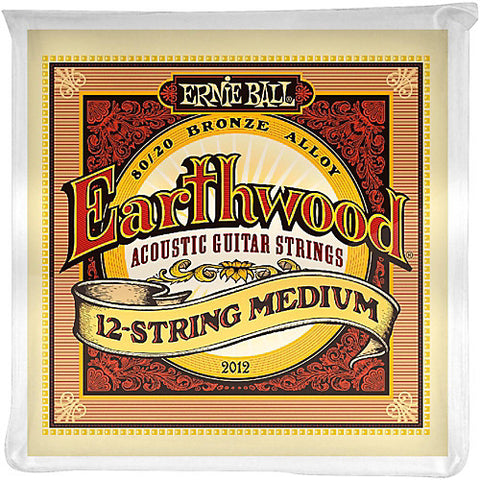 Ernie Ball  Earthwood 12-string Medium Acoustic 80/20 Bronze 02012 - L.A. Music - Canada's Favourite Music Store!
