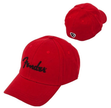 Fender Logo Stretch Cap (Red) 9106000309 - L.A. Music - Canada's Favourite Music Store!