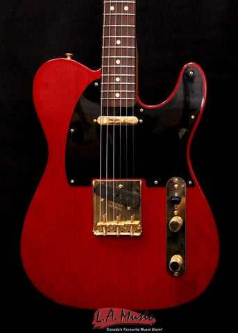 Fender Custom Shop #346 Master Built Yuriy Shishkov Feather Light Telecaster Closet Classic Crimson Trans 9216007160 - L.A. Music - Canada's Favourite Music Store!